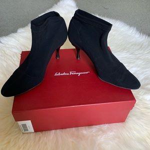 Salvatore Ferragamo Tirolo black booties, size 8.5